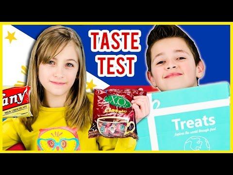 AMERICAN KIDS TRY TREATS FROM PHILIPPINES TREATS & SNACKS TASTE TEST