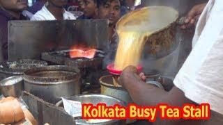 Special Milk Tea | Indian Street Food | Busy Tea Stall in Kolkata Market | Kolkata Chai,Masala Chai