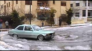 2013-01-09 تشحيط شباب الجبيهة في الثلج - Al-Jubaiha Snow Drift