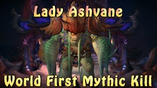 World First Mythic Kill | Lady Ashvane, Azshara's Eternal Palace | Method
