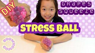 액괴 재활용! 포도알 스퀴시 만들기/How to make DIY Slime Squishy Stress Ball (ENG Sub)/スライム再利用!スクイーズストレスボール