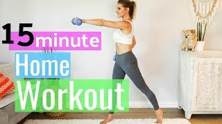 15 Minute At Home Full Body Workout | Rebecca Louise