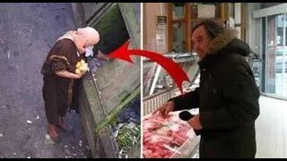 اشترى كيلو لحم لامرأة مسكينة ولكن حصلت مفاجأة لا تصدق أنظر ماذا حدث !!