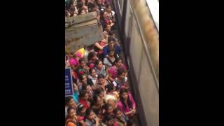 INDIAN Women crowd puching badly each other on railway station