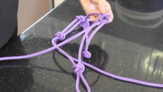 How to make a rope halter for a horse or donkey.  Easy step by step instructions. Part 1