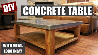 How To Make a Concrete Coffee Table and How to Embed a Metal Design in Concrete