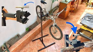 Construyendo parante para reparar bicicletas | Con brazo giratorio y diferentes alturas