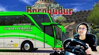 Bus Syakira Perdana Full Strobo Trip to Borobudur
