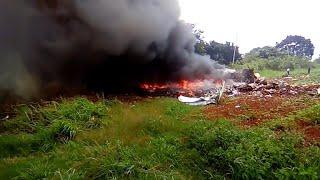 Passenger plane goes down in fiery crash in Cuba