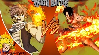 Natsu VS Ace (Fairy Tail VS One Piece) _ DEATH BATTLE! REACTION!!!