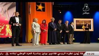 محسن و لمياء في تقديم حفل إختتام مهرجان وهران الدولي للفيلم العربي 2015