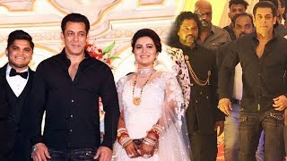 Salman Khan's GRAND ENTRY At The Wedding Ceremony Of His Makeup Artist Raju Naag's Son