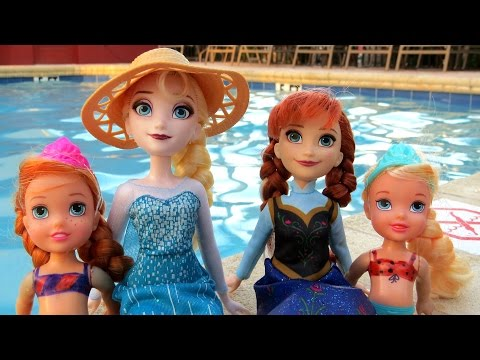 POOL Elsa and Anna toddlers Barbie is the lifeguard splash
