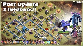 Awesome 3 Star Attacks with 2 Pekka | 3 Infernos | Post Update TH12 War Strategy #90 | COC 2018 |
