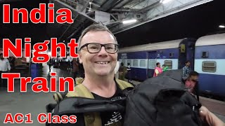 Udaipur to Agra Night Journey in Indian Train First Class Train Travel Video Guide India Train AC1