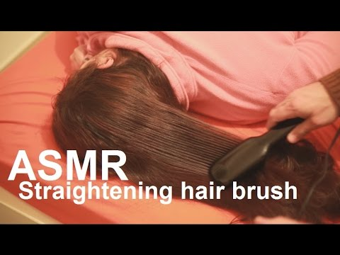 ASMR | Long Hair Straightening | Closeup Brushing Sounds | Sleeping