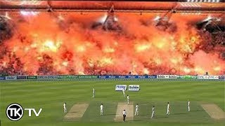 Angry Cricket Fans Burn The Stadium - Throw Fire Crakers and Bottles