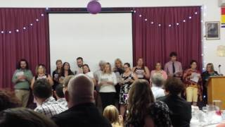 Grad Banquet- The teachers surprise the grads with song!  June 6 2017