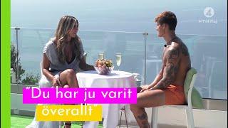 Rebecca speedejtar Mathias I Love Island Sverige 2018 (TV4 Play)