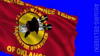 Blue screen Flag of the Absentee Shawnee tribe HD