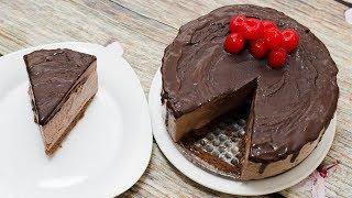 CHOCOLATE ICE CREAM CAKE l EGGLESS & WITHOUT ICE CREAM MACHINE