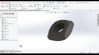How to design a square nut in solidworks?