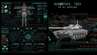 Hud UI Pack 700+( After Effects Project Files ) ★ AE Templates