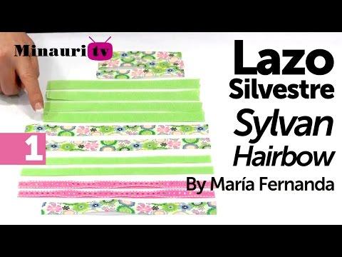 DIY Lazo Silvestre by María Fernanda 1 2 How to make ¨Silvestre¨ hair bow