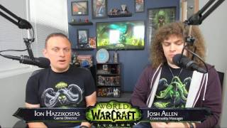 Legion Live Developer Q&A w/ Ion Hazzikostas- April 26, 2017
