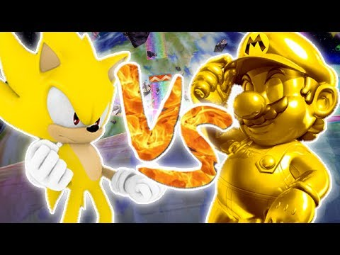 Super Smash Bros Brawl Golden Mario vs Super Sonic Vidéo Bonus