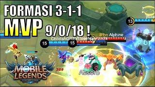 MVP GATOTKACA FORMASI 3-1-1 TANPA DEATH! • Mobile Legends Indonesia (60 fps)