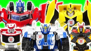 Transfomers RID Bumblebee! Defeat the dinosaurs with Strongarm, Drift, Ratchet! - DuDuPopTOY