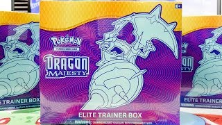 Opening 3x Pokemon Dragon Majesty Elite Trainer Boxes