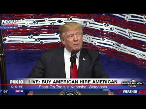 WATCH President Trump Buy American Hire American Event Kenosha WI FNN