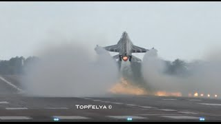 Impressive F-16 Touch and GO followed by 2 aileron roll's