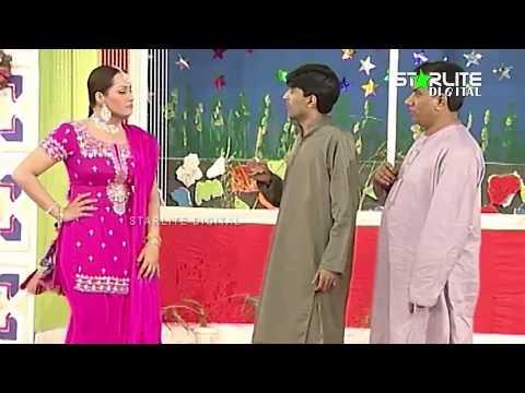 Nasir Chinyoti, Nargis and Sajan Abbas New Pakistani Stage Drama Full Comedy Clip