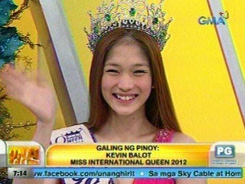 UB Galing ng Pinoy Panayam kay Kevin Balot Miss International Queen 2012