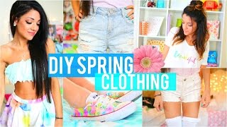 Easy DIY Tumblr Inspired Spring Clothing for Cheap! (No Sew)