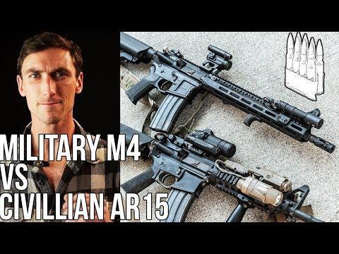 Military M4 vs  High End Civilian AR15