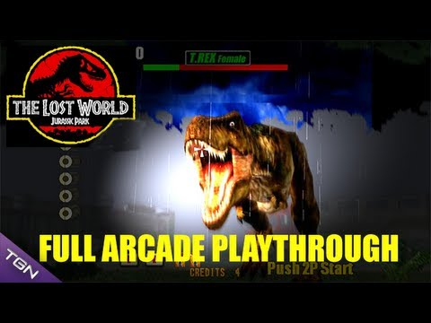 The Lost World Jurassic Park Arcade Game Full Playthrough Sega Arcade Classic