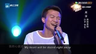 The Voice of China - Zhou Shen sings