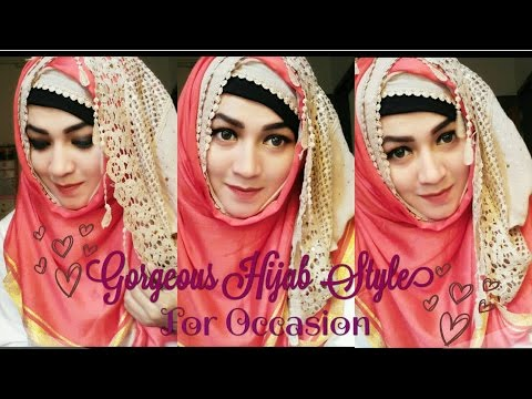 Gorgeous Hijab Style for Occasion | Pari ZaaD