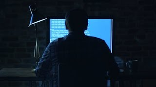 Programmer Sitting in Front of a Monitor at Night | Stock Footage - Videohive