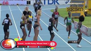 Kenya win 4x4M Relay Mixed Heat 1