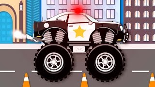 Monster Truck Stunt Chase | Monster Truck Videos For Kids | Monster Trucks For Children
