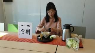 テーブルで茶道のおもてなし 盆略点前   5月編 ② Tea ceremony on the table