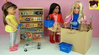 Supermercado de Juguete con Barbie y Muñecas American Girl - Los Juguetes de Titi