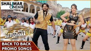 Supreme Movie Video Songs Trailers Back to Back || Sai Dharam Tej, Raashi Khanna