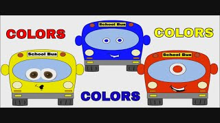 Color Buses - Best Toddler Learning for Kids Learn Colors - Preschool Educational Video