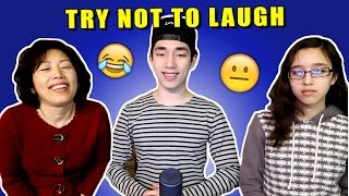 Family Try Not To Laugh Challenge!!